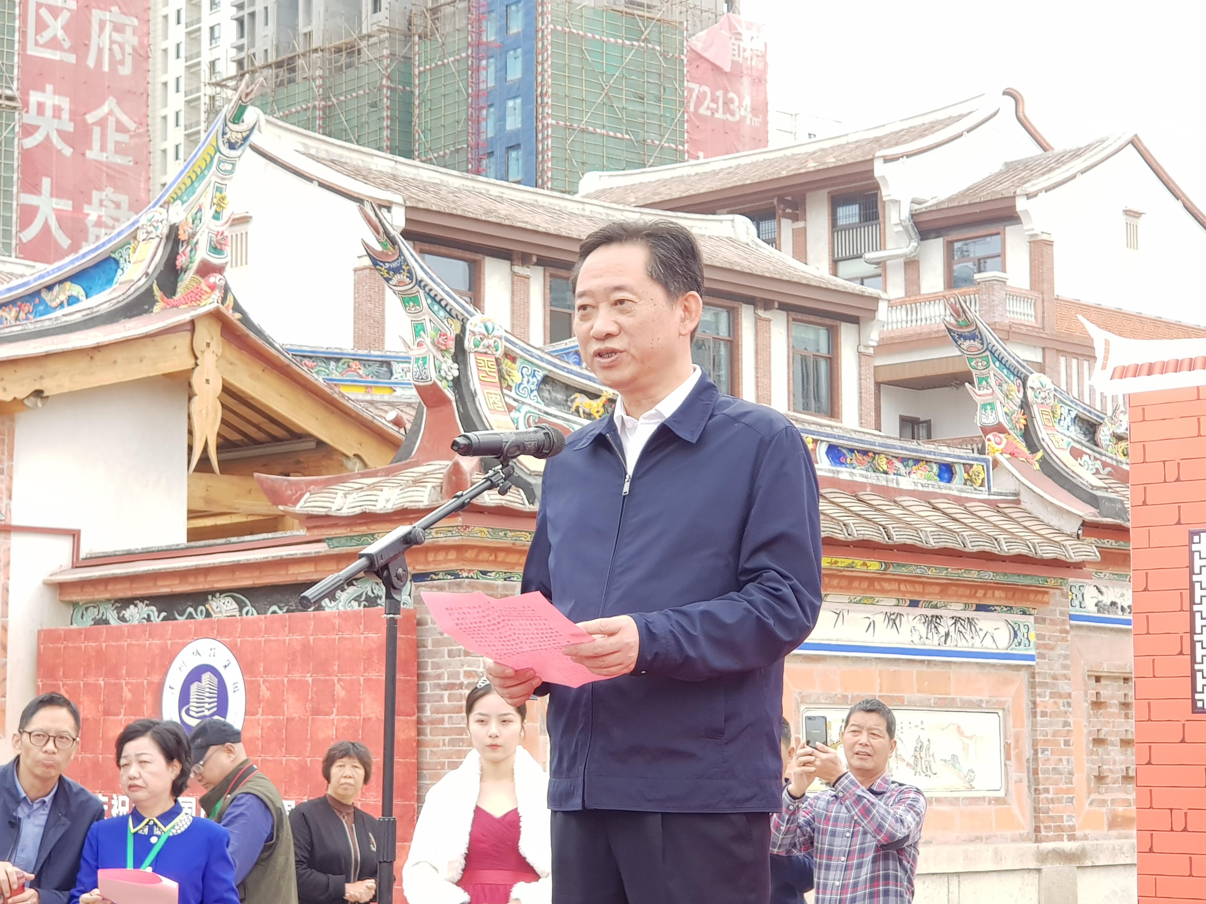 漳州市委常委、宣傳部長劉偉澤致詞